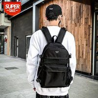 Oxford cloth waterproof backpack Korean version of the tide lovers men and women leisure travel college student school bag #kD5f