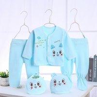 Bekamille 유아 신생아 아기 세트 (5pcs / 세트) 부드러운 의류 면화 패션 소년 소녀 정장 210317