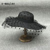 S-Maqiao-французская женская мода вязаная соломенная шляпа, солнечная шляпа, открытая шляпа отдыха, мода 2020 фестиваль шляпа A0611