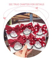 Hair Accessories 2pcs Tie Children Red Bow Ring Girl Baby Clip Cute Fashion
