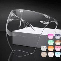 Outdoor Eyewear Unisex Colorful Eye Shield Visor Large Mirror Cycling Sun Glasses Half Face Guard Protector Mask Anti-spray