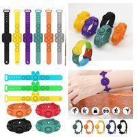 Push Bubble Fidget Bracte Toys Hool zeaze Sensory кольцо браслеты головоломки прессы пальца пузырьки стресс браслет прессование мяча разложение взрослый