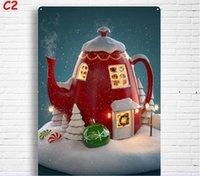 جديد عيد الميلاد خمر المعادن القصدير علامات جدار ديكور عيد الميلاد جدار الفن لوحات الحديد المعادن علامات القصدير لوحة حانة بار المرآب الرئيسية OWD9892
