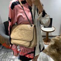 Bolsos de moda de moda al por mayor Mujeres de lujo diseñadores bolsas retro apenado de moda de cuero de cuero traste backbody bolso de cadena Bolso de gran capacidad Tamaño: 22 cm 28 cm