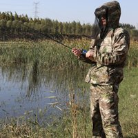 Outdoor Bird Watching Hunting Clothes Ghillie Suits Men Anti-Mosquito Camouflage Fishing Suit Camo Jacket Pants Set