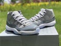 Sapatos Autêntico 11 Alto Og Mens Médio Cinza Branco Cool Cinza Real Carbono Fibra Calçado Original 7-13