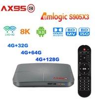 AX95 DB 4GB 32GB 64GB 128GB Android 9.0 TV 박스 Amlogic S905X3 지원 D00LBY 듀얼 WiFi 8K 미디어 플레이어 vs H96 Max x96 x6