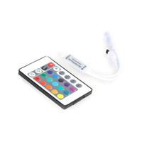 DHL 24 Key Wireless IR-Fernbedienung 12V RGB-LED-Mini-Controller-Dimmer für Ranglager-Streifen 5050 3528 3 Kanäle-LEDs