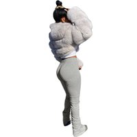 top selling product in 2020 Women's Run Workout Joggers Pants Gradient Sport Stacked Leggings Support Wholesale and Dropshipping