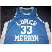 Özel 009 Gençlik Kadın Vintage Aşağı Merion # 33 K B kolej basketbol forması boyutu S-6XL veya özel herhangi bir isim veya numara forma