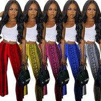 Vintage Bandena Paisley Flare Çan Alt Pantolon Kadınlar Streetwear Yüksek Bel Sıska Pantolon Yaz Şınav Bodycon Legging Yeni