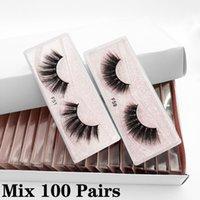 Mink cils en gros 10/20/30/50 / 100pcs 3D mink cils pack naturel faux cils fournisseurs maquillage faux cils vrac articles