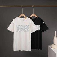 Summer Mens T-shirt in cotone Luxury Manica Corta Moda Casual Lettera Streetwear Streetwear Slip Collo rotondo Basic 5 stili