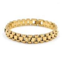 الرجال سوار تاج الذهبي المقاوم للصدأ ووتش سلسلة عداد السرعة أساور الإناث الاشتباك المجوهرات هدية 1