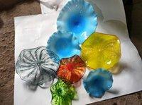 Moda Moda Estilo Turco Flor Em Forma De Placa De Lâmpada Mão Brota Placas De Parede De Vidro Feito Personalizado Murano Arte Decoração