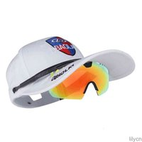 Red 11 hombres deportes + UV400 Gafas de sol para Golf Heart 89k Cap Polarized Cycling Outdoor Cap Sombreado Sombrero + Gafas Mujeres Colores Deportes