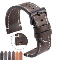 Belts Vintage Genuine Leather Watchbands 7 Colors Belt 18mm 20mm 22mm 24mm Women Men Cowhide Watch Band Strap Accessories