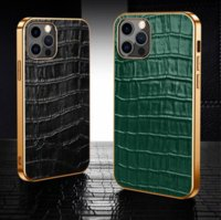 Designer Fashion Phone Cases for Iphone 13 12 Mini 11 Pro Max X XR Xs 7 8 plus SE2 Galaxy S21 Note 20 Luxury Creative Crocodile pattern leather Cover case