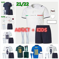 Взрослый Kids Kit 2021 2022 Италия Футбол Джерси Belotti Barella Sensi Insigne 20 21 22 Чашка Италия Ренессанс Chiellini Bernardeschi Итальянские футболки