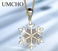 925 sterling silver necklace golden snowflake gem pendant fashion diamond