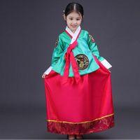 Hanbok Coreano National Traje Girls Kids Traditional Dress Cosplay Performance Roupas TA426 Étnica