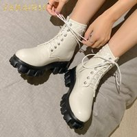 Boots Sarairis 2021 INS Trendy Booties Women Shoes Platform Street Cool Comfortable Concise Shoelace Motorcycle Female