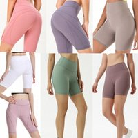 20+ colors yoga women leggings shorts high waist womens workout gym wear lu 68 solid color sports elastic fitness lady overall tights short U1ri#