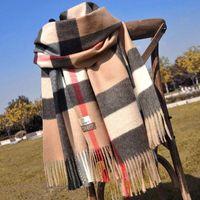 Grandi dimensioni 180 * 70 Alta qualità 2020 autunno / inverno moda cashmere Sciarpe di cashmere, scialle super lunghi moda moda scarpe morbide da donna