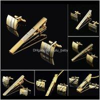 Altın Klip ve Kol Düğmesi Erkekler Için Klasik Metre Klipler Kol Düğmeleri Setleri Bakır Bar Altın Kravat Yaka Pin Takı VI6 2IV3B Kol Düğmeleri 4C5FB