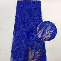 Tecido de renda líquido de lantejoulas africano 2020 alta qualidade laço bordado francês tecido de renda de malha para vestido de festa nigeriano