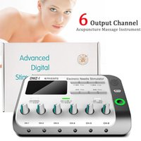 Electric Massagers 6 Output Channel Multi-Functional Patches Physiotherapy Tens Muscle Stimulator Relax Body Massager