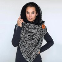 Large Scarves Women Long Cashmere Winter Wool Blend Button Soft Warm Plaid Scarf Wrap Shawl Fashion Decor 2021