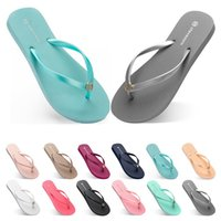 Sixty- nine Slippers Beach shoes Flip Flops womens green yell...