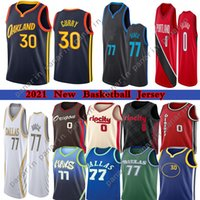 2021 Jerseys Luka Stephen 77 Doncic 30 Curry Damian 0 Lillard Basketball Jersey 33 Wiseman Carmelo