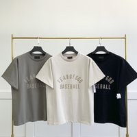 Season 7 main line BASEBALL letters T Shirts high street trend loose hip-hop short-sleeved T-shirt