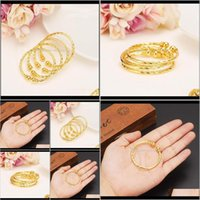 Bracelets Drop Delivery 2021 Small Lovely Dubai Africa Bangle Arab Gold Charm Girls India Anklet Bracelet Jewelry For Kids Baby Birthday Gift