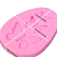 Diy Cake Baking Moulds Chocolate Ice Cream Silicone Molds Simulation Butterfly Cakes Food Grade Decoration Kitchen Solid Color LLE8749