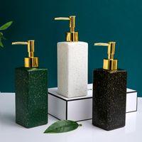 Bath Accessory Set Nordic Ceramic Hand Sanitizer Bottle Creative Bathroom Shower Gel Minimalist Lotion Portable El Soap Dispenser