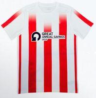 2021 Sunderland A.f.c. Jersey de football Accueil Rouge 20 21 22 Hommes Chemise à manches courtes Uniformes de football personnalisés