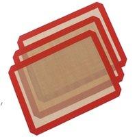 3 шт. / Лот 40x 30 см Безстрекивый силиконовый коврик для выпечки Термостойкое стекловолокное тесто прокатки листа для пирога печенье кухонные инструменты NHD6074