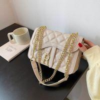 Design handbag Bags 2021 fashion one shoulder chain women's Korean new net red simple messenger small square bag 6OFP