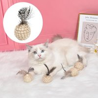 Cat Toys Rope Feather Claw Resistant Self Joy Toy Ball Throw Interactive Stuff Kitten Pet Supplies Dog Puppy Product Acessories