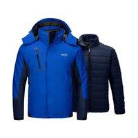 Wantdo uomini 3 in 1 giacca da sci caldo inverno neve cappotto pallo palla pioggia impermeabile antivento chaquetas hombre