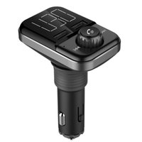 Car Audio BT72 FM Transmitter Wireless Adapter Kit With Dual USB Charging Ports 1.4 Inch LCD Display Hands Free