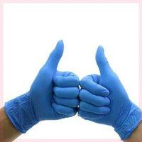 Gants jetables 20 / 50pcs en latex nitrile universel Travail universel / Jardinage / à la vaisselle / Nettoyage du ménage Blanc Blanc