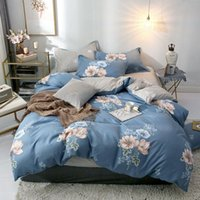 Bedding Sets 40 Pineapple Geometric Printed 4pcs Bed Cover Set Cartoon Duvet Sheets And Pillowcases Comforter 61001