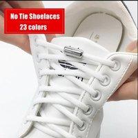 1 أزواج مطاطا لا التعادل أربطة أربطة الأحذية نصف دائرة كيد أحذية رياضية الكبار رباط الحذاء السريع كسول كبسولة معدنية قفل الأحذية سلاسل