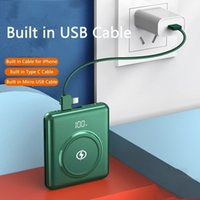 2021 Fast Wireless Charging Power Bank battery 100000mAh Poverbank Built in Cable Powerbank for iPhone 12 11 Xiaomi Samsung S20 YM413 green black white