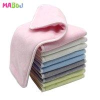 MABOJ 10 STÜCKE Baby ökologische Tuch Windeln Einsätze Bambusfaser Terry Mikrofasereinsatz Waschbare Taschentuch Wickelwindel Nappy Deckung 210426