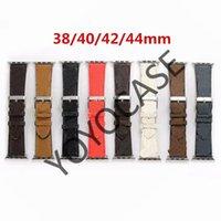 Neues Design Lederband für Apple Uhrenband Serie 6 5 4 3 2 40mm 44mm 38mm 42mm Armband für iwatch gürtel yy01